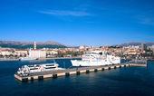 View of haven in Split — Stock Photo