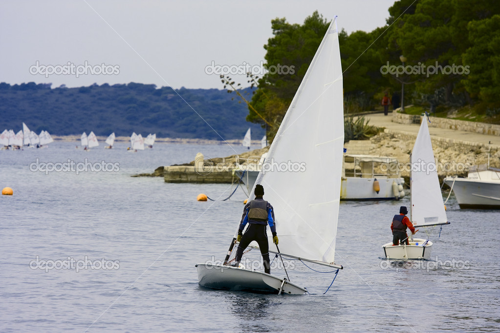 Start of regatta — Stock Photo #2027371