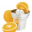 Juicer with oranges — Stock Photo