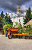 Ukrainian courtyard — Stock Photo
