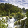 Waterfall in tne national park Krka - Stock Photo