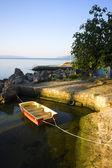Barca solitaria — Foto Stock