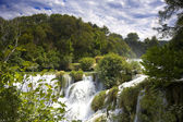 Waterfall in tne national park Krka — Stock Photo