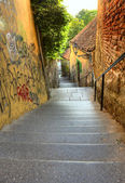 Alley in Zagreb — Stock Photo