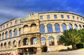 Ancient arena in Pula — Stock Photo