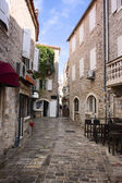 Street in Budva — Stock Photo