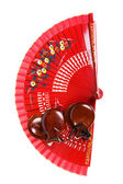 Fan with castanets — Stock Photo