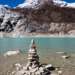 Nepal. Glacial lake — Stock Photo