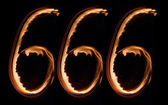 Number of devil — Stock Photo