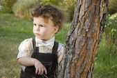 Little boy in the garden — Stock Photo