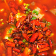 Chinese food capsicum oil — Stock Photo