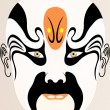 Chinese opera face — Stock Photo