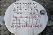 China Stone Table and chinese Chess — Stock Photo