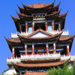 China Temples pavilions and sky — Stock Photo