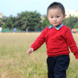Cute little boy on grass — Stock Photo