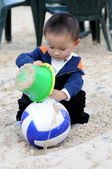 Boyl palying ball — Stock Photo
