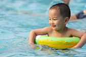 Swimming boy — Stock Photo