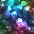 Stock Photo: Abstract glowing circles on colorful backgroun