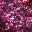 Stock Photo: Abstract glowing Hearts