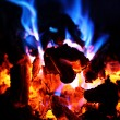Stock Photo: Red and Blue Flame Fire
