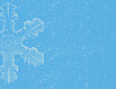 Lite Blue Snowflakes on blue background — Stock Photo