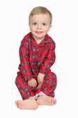 Boy in Christmas Shirt and pants - full view — Stock Photo