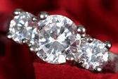 Engagement Ring taken closeup — Stock Photo
