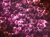 Abstract glowing Hearts — Stock Photo
