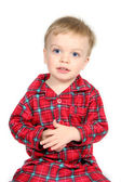 Boy in Christmas Clothes — Stock Photo