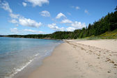 Sandy Beach in Rural Newfoundland — Stock Photo