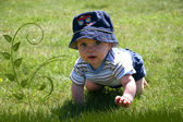Baby in the Grass — Stock Photo