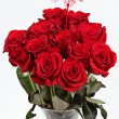 Vase of red roses for Valentines Day — Stock Photo #2337479