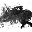 Grunge Paint blob - Stock Photo