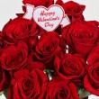 Happy Valentines Day on roses — Stock Photo