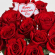 Stock Photo: Happy Valentines Day on roses