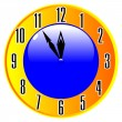 Clock isolated - Stock Vector