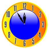 Clock isolated — Stock Vector
