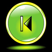 Groene knop vorige — Stockvector