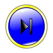 Button next blue — Stock Vector