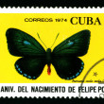 Постер, плакат: CUBA CIRCA 1974: A postage stamp