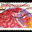 CZECHOSLOVAKIA - CIRCA 1975: A poststamp — Stock Photo