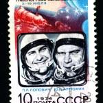 Постер, плакат: USSR CIRCA 1974: A postage stamp