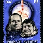 Постер, плакат: USSR CIRCA 1977: A postage stamp