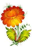 Orange decorative flower — Stock Vector