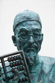 Sculptural portrait of old man — Stock Photo