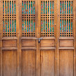 Closed wooden door — Stock Photo