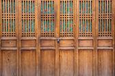 Closed wooden door — Stock Photo