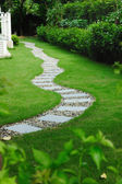 Garden stone path — Stock Photo