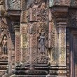 Sculpted wall, Angkor Wat - Stock Photo