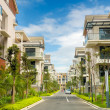 A road and two rows of new terrace house — Stock Photo #1880862